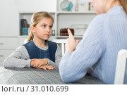 Купить «Woman scolding her daughter», фото № 31010699, снято 22 января 2019 г. (c) Яков Филимонов / Фотобанк Лори
