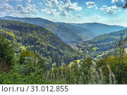 Panorama of Todtnau in Southern Black Forest, Germany, Wiesental valley. Стоковое фото, фотограф Jürgen Feuerer / age Fotostock / Фотобанк Лори