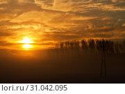 Купить «Sonnenaufgang am Niederrhein», фото № 31042095, снято 18 июля 2019 г. (c) age Fotostock / Фотобанк Лори