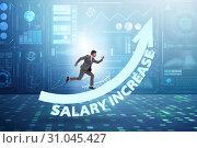 Купить «Employee in salary increase concept», фото № 31045427, снято 29 мая 2020 г. (c) Elnur / Фотобанк Лори