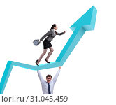 Business people in economic recovery business concept. Стоковое фото, фотограф Elnur / Фотобанк Лори