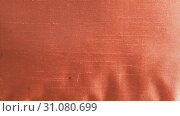 Купить «Close up Abstract of silk or satin fabric background of linen cloth textile of light fabric with crisscross wave pattern for any occasion. Natural canvas. Studio shot with copy space room for text.», фото № 31080699, снято 7 апреля 2019 г. (c) easy Fotostock / Фотобанк Лори