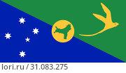Купить «Флаг Острова Рождества. Австралия», иллюстрация № 31083275 (c) Владимир Макеев / Фотобанк Лори