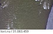 Купить «Video from a drone flying along Altai river Katun. Camera looks down.Siberia, Russia», видеоролик № 31083459, снято 3 июня 2019 г. (c) Serg Zastavkin / Фотобанк Лори