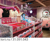 Купить «Hello Kitty store in Siam Square One mall, Bangkok», фото № 31091043, снято 13 декабря 2017 г. (c) Александр Подшивалов / Фотобанк Лори