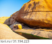 Small water basin in Spitzkoppe rock formation, Namib Desert, Namibia, Africa. Стоковое фото, фотограф YAY Micro / easy Fotostock / Фотобанк Лори