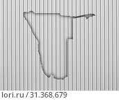Купить «Map of Namibia on corrugated iron», фото № 31368679, снято 23 октября 2014 г. (c) easy Fotostock / Фотобанк Лори
