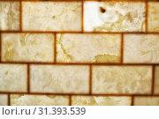 Купить «Onyx brick wall background. Texture of honey color onyx material», фото № 31393539, снято 15 июня 2018 г. (c) Serg Zastavkin / Фотобанк Лори