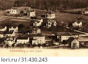 Buildings in Landkreis Sächsische Schweiz-Osterzgebirge, Schmiedeberg (Erzgebirge), 1902, Landkreis Sächsische Schweiz-Osterzgebirge, Schmiedeberg, Germany (2019 год). Редакционное фото, фотограф Liszt Collection / age Fotostock / Фотобанк Лори