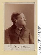Rev. James Callahan. Photo D. Head-and-shoulders cabinet portrait, right profile, 1896. Редакционное фото, фотограф Copyright Artokoloro Quint Lox / age Fotostock / Фотобанк Лори