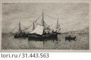 Купить «Boats of Cabotage (Coasts of Italy), 1874. Adolphe Appian (French, 1818-1898). Etching, sheet: 26.6 x 35.2 cm (10 1/2 x 13 7/8 in.), plate: 16.4 x 23.8 cm (6 7/16 x 9 3/8 in.)», фото № 31443563, снято 14 февраля 2019 г. (c) age Fotostock / Фотобанк Лори
