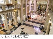 Купить «Foyer of National Museum of Wales, Cardiff, Wales.», фото № 31470827, снято 4 апреля 2020 г. (c) age Fotostock / Фотобанк Лори