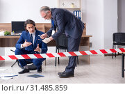 Two experts criminologists working in the office. Стоковое фото, фотограф Elnur / Фотобанк Лори