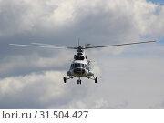 Купить «МИ-8 на фоне облаков анфас», фото № 31504427, снято 26 июня 2019 г. (c) Ельцов Владимир / Фотобанк Лори