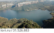 Купить «Scenic panoramic view from high point of Sau reservoir, Catalonia, at autumn day», видеоролик № 31526883, снято 17 ноября 2018 г. (c) Яков Филимонов / Фотобанк Лори