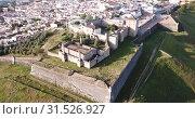 Купить «Panoramic view from drone of the castle in Elvas. Portugal», видеоролик № 31526927, снято 22 апреля 2019 г. (c) Яков Филимонов / Фотобанк Лори