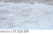 Купить «Waves on the beach of Nai Harn, Thailand», видеоролик № 31529339, снято 1 февраля 2019 г. (c) Игорь Жоров / Фотобанк Лори