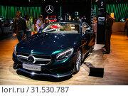 Купить «Mercedes-Benz C217 S400», фото № 31530787, снято 1 сентября 2016 г. (c) Art Konovalov / Фотобанк Лори