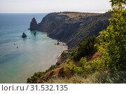 Landscape of the sea coast in a Crimea. Fiolent headland (2019 год). Стоковое фото, фотограф Володина Ольга / Фотобанк Лори