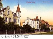 Buildings in Wilsdruff, 1912, Landkreis Sächsische Schweiz-Osterzgebirge, Wilsdruff, Bismarckstraße, Germany (2019 год). Редакционное фото, фотограф Copyright Liszt Collection / age Fotostock / Фотобанк Лори