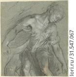 Купить «Figure Study, Federico Barocci (Italian, about 1535 - 1612), Italy, 1603 - 1607, Black and white chalk, beige chalk on right knee, stylus indentations...», фото № 31547067, снято 7 сентября 2018 г. (c) age Fotostock / Фотобанк Лори