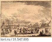 Купить «Peeter Bout (Flemish, 1658 - 1719), Ice Sleighs, etching», фото № 31547895, снято 7 декабря 2011 г. (c) age Fotostock / Фотобанк Лори