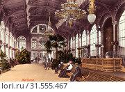 History of Vrídelní kolonáda, 1906, Karlovy Vary Region, Karlsbad, Sprudel Kolonnade, Czech Republic (2019 год). Редакционное фото, фотограф Liszt Collection / age Fotostock / Фотобанк Лори