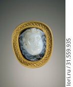 Купить «Cameo Gem Set into a Mount, Gem Unknown, Mount by Alessandro Castellani, Roman Empire, 2nd - 3rd century, Sardonyx set in a nineteenth-century gold mount...», фото № 31559935, снято 7 сентября 2018 г. (c) age Fotostock / Фотобанк Лори