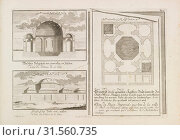 Hungary, Plan, section and elevation of the Imperial Bath in Offen,Pest, Budapest Hungary, Entwurff einer historischen Architectur: in Abbildung unterschiedener... (2018 год). Редакционное фото, фотограф © Liszt Collection / age Fotostock / Фотобанк Лори