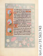 Hours of Queen Isabella the Catholic, Queen of Spain: Fol. 15v, c. 1500. And associates Master of the First Prayerbook of Maximillian (Flemish, c. 1444... (2019 год). Редакционное фото, фотограф Liszt Collection / age Fotostock / Фотобанк Лори