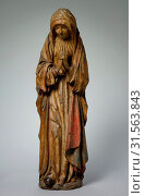 Virgin, 1510-1515. France, Champagne, early 16th century. Painted oak, overall: 119.4 x 36.9 cm (47 x 14 1/2 in.) (2019 год). Редакционное фото, фотограф Liszt Collection / age Fotostock / Фотобанк Лори