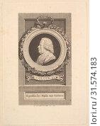 Portrait of Gluck, 1781, Etching and engraving, third state of three (Bocher), Sheet: 9 1/16 × 6 1/8 in. (23 × 15.6 cm), Prints, Augustin de Saint-Aubin (French, Paris 1736–1807 Paris) (2017 год). Редакционное фото, фотограф © Copyright Artokoloro Quint Lox Limited / age Fotostock / Фотобанк Лори