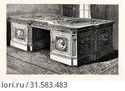 Купить «SECRETAIRE MADE FROM THE TIMBERS OF THE BRITISH ARCTIC SHIP 'RESOLUTE,' AND PRESENTED BY QUEEN VICTORIA TO THE PRESIDENT OF THE UNITED STATES.», фото № 31583483, снято 9 января 2013 г. (c) age Fotostock / Фотобанк Лори