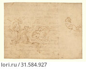 Купить «Study for the Triumph of Neptune and Amphitrite, Nicolas Poussin (French, 1594 - 1665), France, about 1635, Pen and brown ink, 14.6 x 20.6 cm (5 3,4 x 8 1,8 in.)», фото № 31584927, снято 7 сентября 2018 г. (c) age Fotostock / Фотобанк Лори