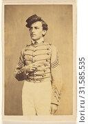 Civil War solding wearing a cap, in quasi-Napoleanic stance, Charles DeForest Fredricks (American, 1823 - 1894), 1862, Albumen silver print (2018 год). Редакционное фото, фотограф © Liszt Collection / age Fotostock / Фотобанк Лори
