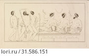 Купить «Plate 41, Collection of engravings from ancient vases mostly of pure Greek workmanship discovered in sepulchres in the kingdom of the Two Sicilies, Hamilton...», фото № 31586151, снято 7 сентября 2018 г. (c) age Fotostock / Фотобанк Лори
