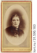 Woman, printed in vignette & quasi-oval style, Paul Bourgeois (French, active 1900s), 1870s, Albumen silver print (2018 год). Редакционное фото, фотограф © Liszt Collection / age Fotostock / Фотобанк Лори