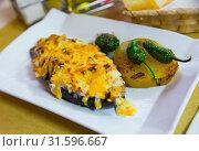 Купить «Eggplant stuffed with meat», фото № 31596667, снято 3 апреля 2020 г. (c) Яков Филимонов / Фотобанк Лори