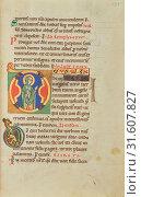 Купить «Initial D: The Virgin, Hildesheim, Germany, probably 1170s, Tempera colors, gold leaf, silver leaf, and ink on parchment, Leaf: 28.2 × 18.9 cm (11 1,8 × 7 7,16 in.)», фото № 31607827, снято 7 сентября 2018 г. (c) age Fotostock / Фотобанк Лори