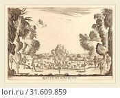 Stefano Della Bella (Italian, 1610-1664), Quarta Scena di Mare, 1637, etching on laid paper [restrike] (2014 год). Редакционное фото, фотограф Artokoloro / age Fotostock / Фотобанк Лори