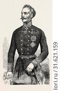 Купить «FIELD-MARSHAL BARON VON HESS, GENERALISSIMO OF THE AUSTRIAN ARMY OF THE EAST, 1854», фото № 31621159, снято 3 января 2013 г. (c) age Fotostock / Фотобанк Лори