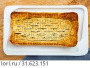 Купить «Traditional salmon in puff pastry», фото № 31623151, снято 18 мая 2019 г. (c) Яков Филимонов / Фотобанк Лори