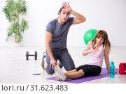 Купить «Young woman feeling bad during training in first aid concept», фото № 31623483, снято 10 мая 2019 г. (c) Elnur / Фотобанк Лори