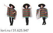 Купить «Pretty mexican girl in vivid pocho isolated on white», фото № 31625947, снято 10 февраля 2015 г. (c) Elnur / Фотобанк Лори