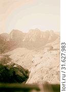 Above Petra. 1898, Jordan, Petra (Extinct city) (2018 год). Редакционное фото, фотограф © Liszt Collection / age Fotostock / Фотобанк Лори