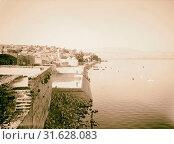 Galilee. Tiberias. The lakefront. 1940, Israel, Tiberias (2018 год). Редакционное фото, фотограф © Liszt Collection / age Fotostock / Фотобанк Лори