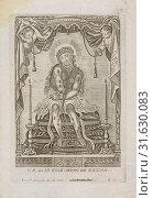 St. Ecce Homo de Regina, Collection of Mexican religious engravings, 1700-1830, Sylverio, Franco, 1755, Franco Sylverio s. a 1755 engraved below image... (2018 год). Редакционное фото, фотограф © Liszt Collection / age Fotostock / Фотобанк Лори
