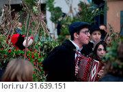 Carnival of Satriano di Lucania, Satriano di Lucania, Potenza, Basilicata, Italy. Стоковое фото, фотограф Alfio Giannotti / age Fotostock / Фотобанк Лори