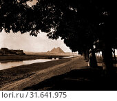 Pyramids, Pyramids, Canals, Egypt, JÄ«zah, 1900 (2014 год). Редакционное фото, фотограф Artokoloro / age Fotostock / Фотобанк Лори