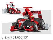 Купить «Vector cartoon sport race cars isolated on white», иллюстрация № 31650131 (c) Александр Володин / Фотобанк Лори